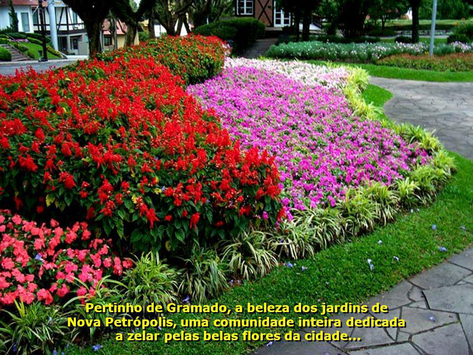 Pertinho de Gramado, a beleza dos jardins de