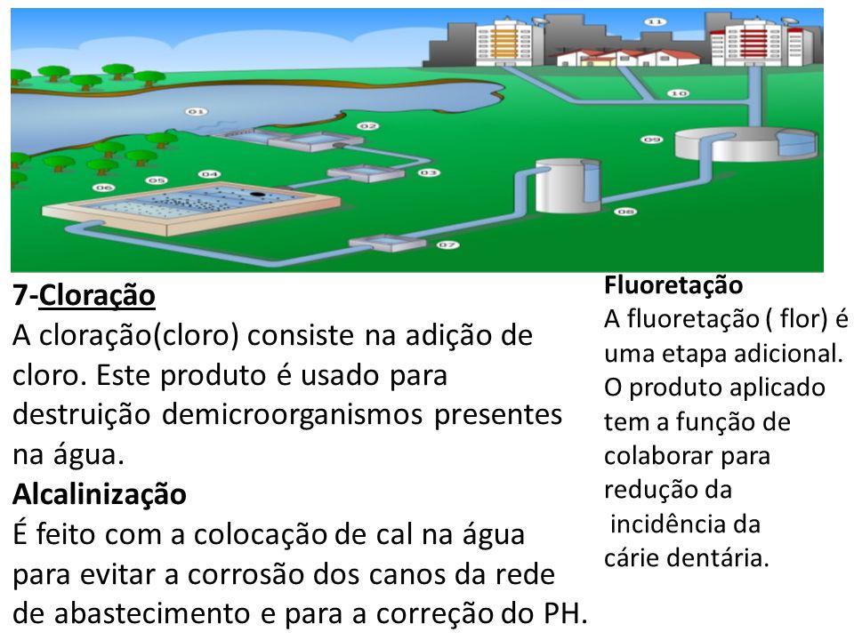 Fluoretação A fluoretação ( flor) é uma etapa adicional. O produto aplicado tem a função de. colaborar para redução da.