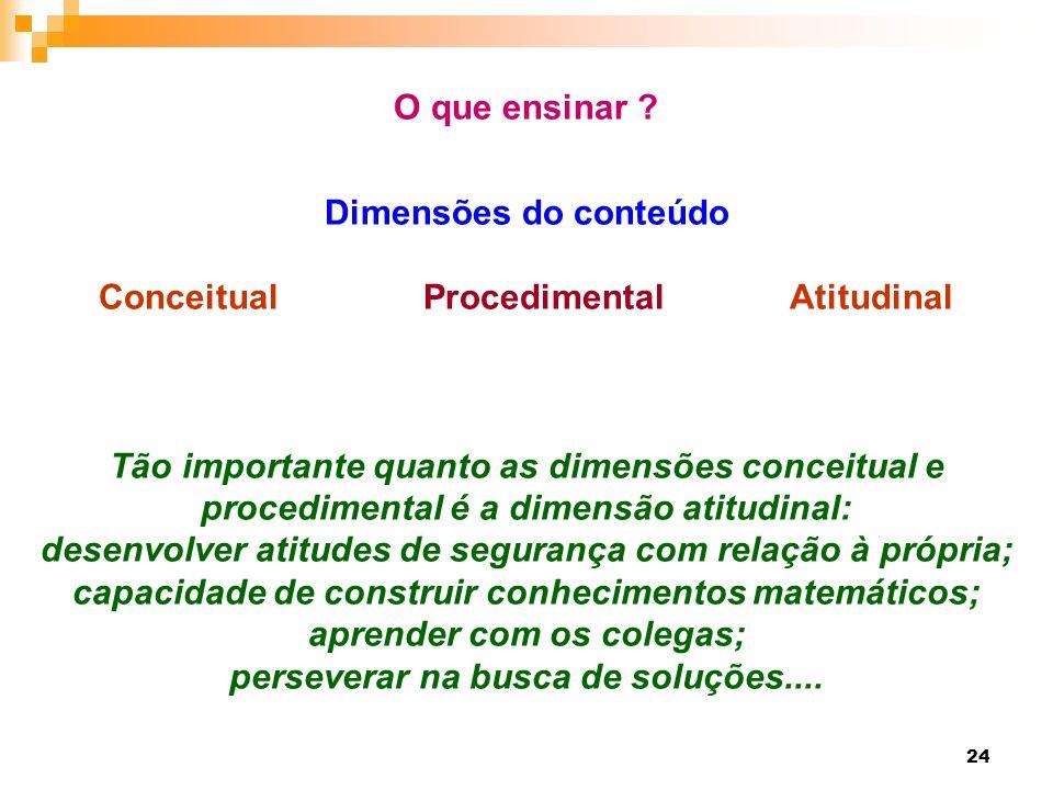 Conceitual Procedimental Atitudinal aprender com os colegas;
