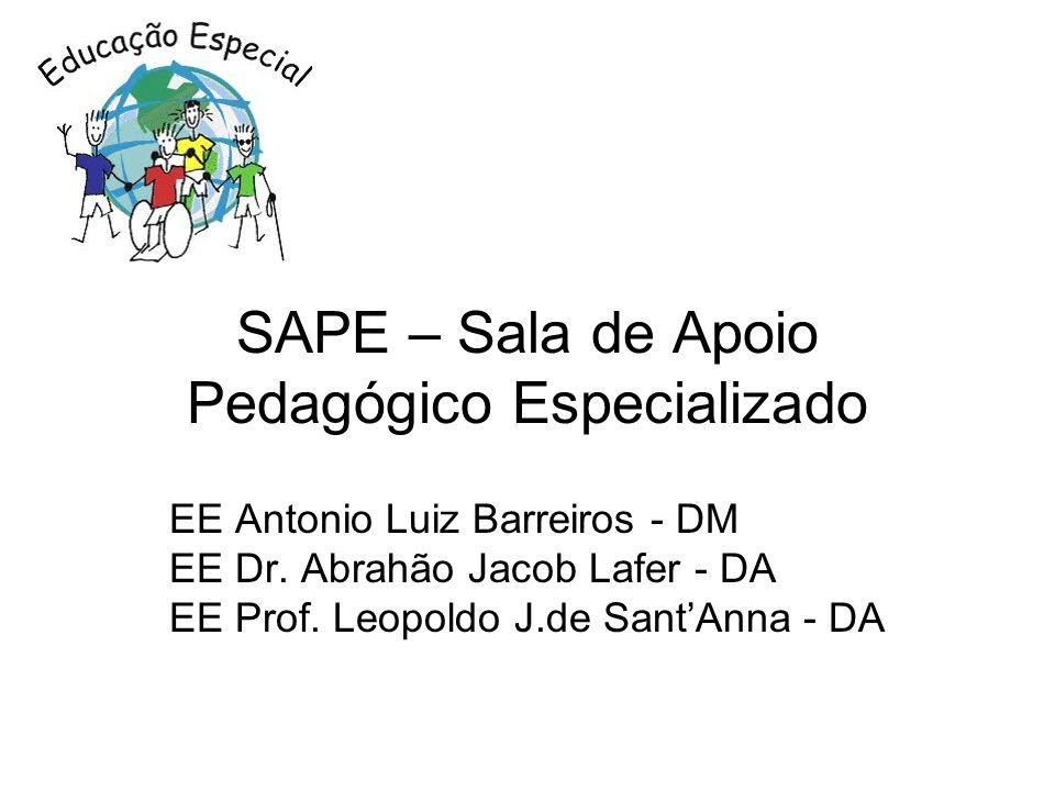 SAPE – Sala de Apoio Pedagógico Especializado