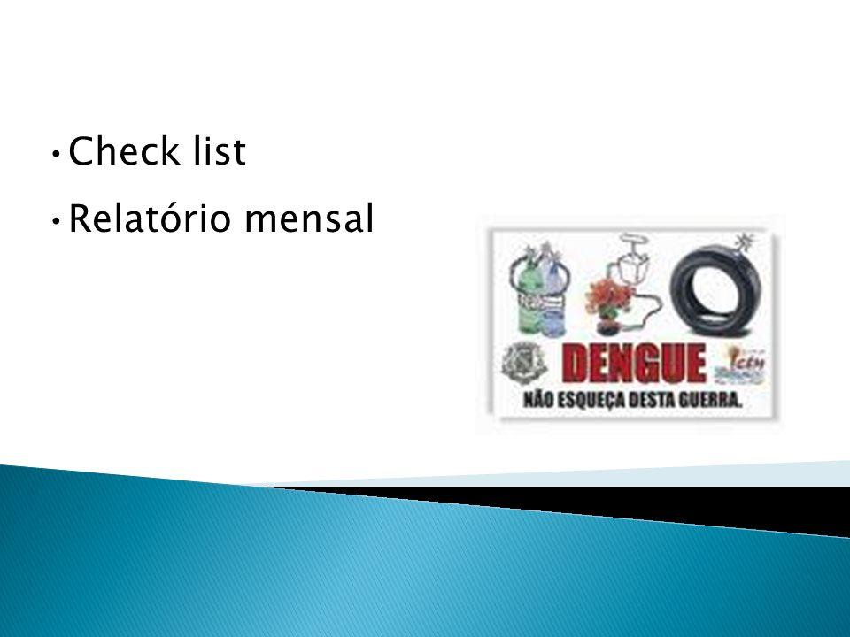 Check list Relatório mensal