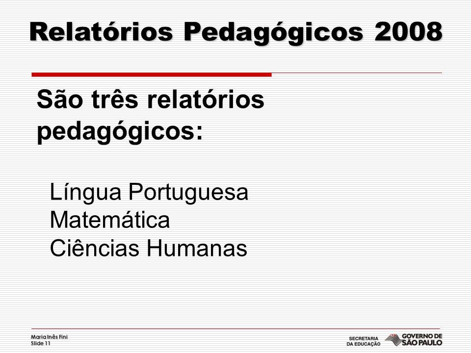 Relatórios Pedagógicos 2008