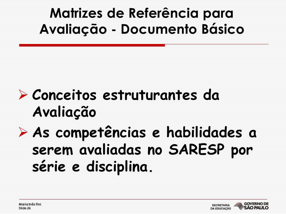 Matrizes de Referência para Avaliação - Documento Básico