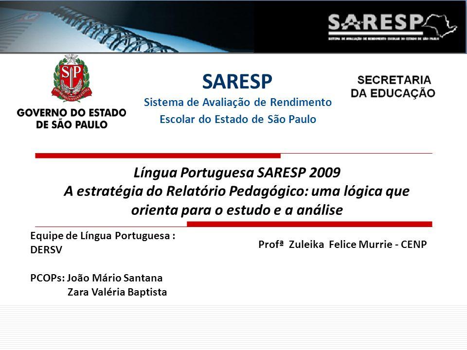 Língua Portuguesa SARESP 2009