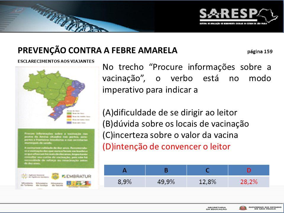 PREVENÇÃO CONTRA A FEBRE AMARELA página 159