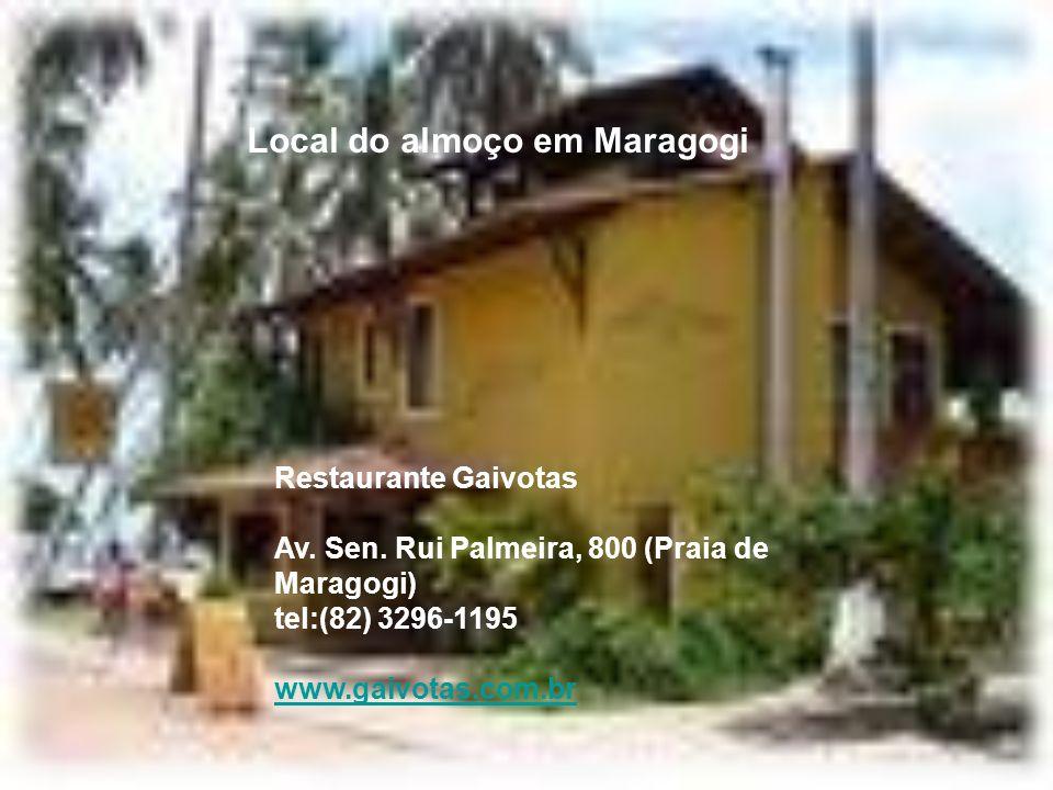 Local do almoço em Maragogi
