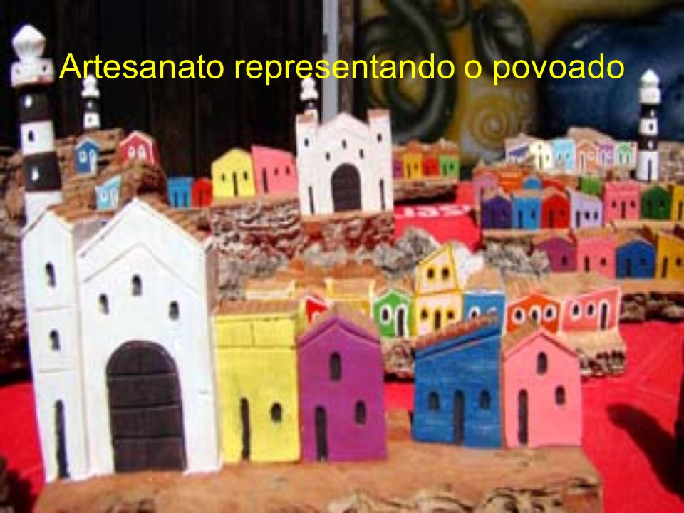 Artesanato representando o povoado