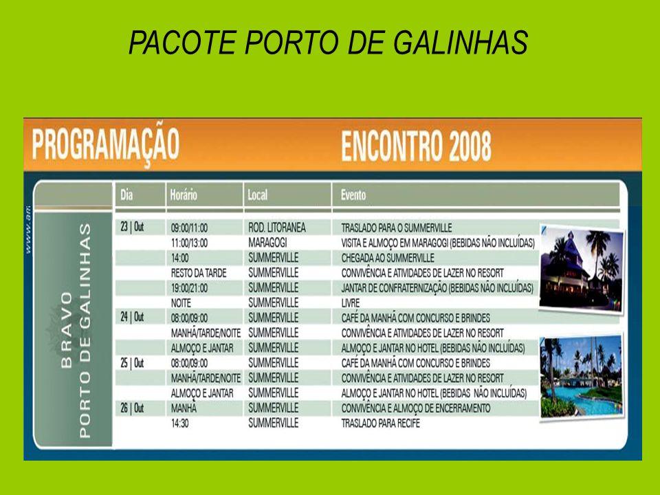 PACOTE PORTO DE GALINHAS