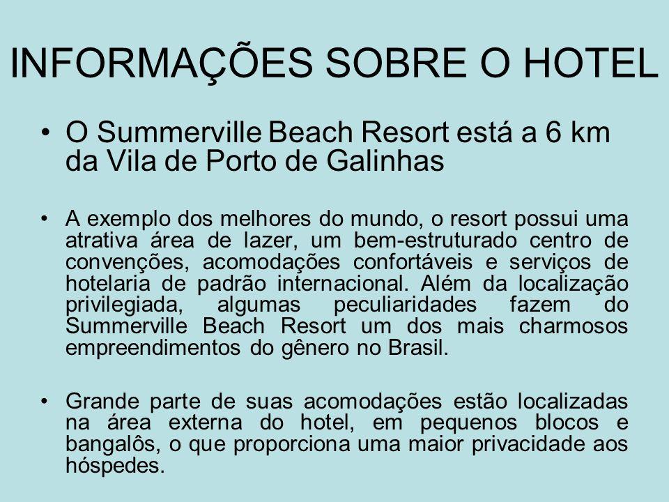 INFORMAÇÕES SOBRE O HOTEL