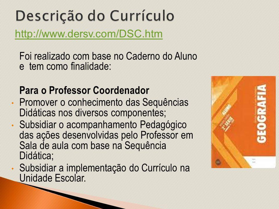Descrição do Currículo