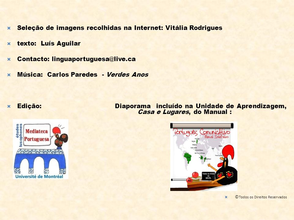 Seleção de imagens recolhidas na Internet: Vitália Rodrigues