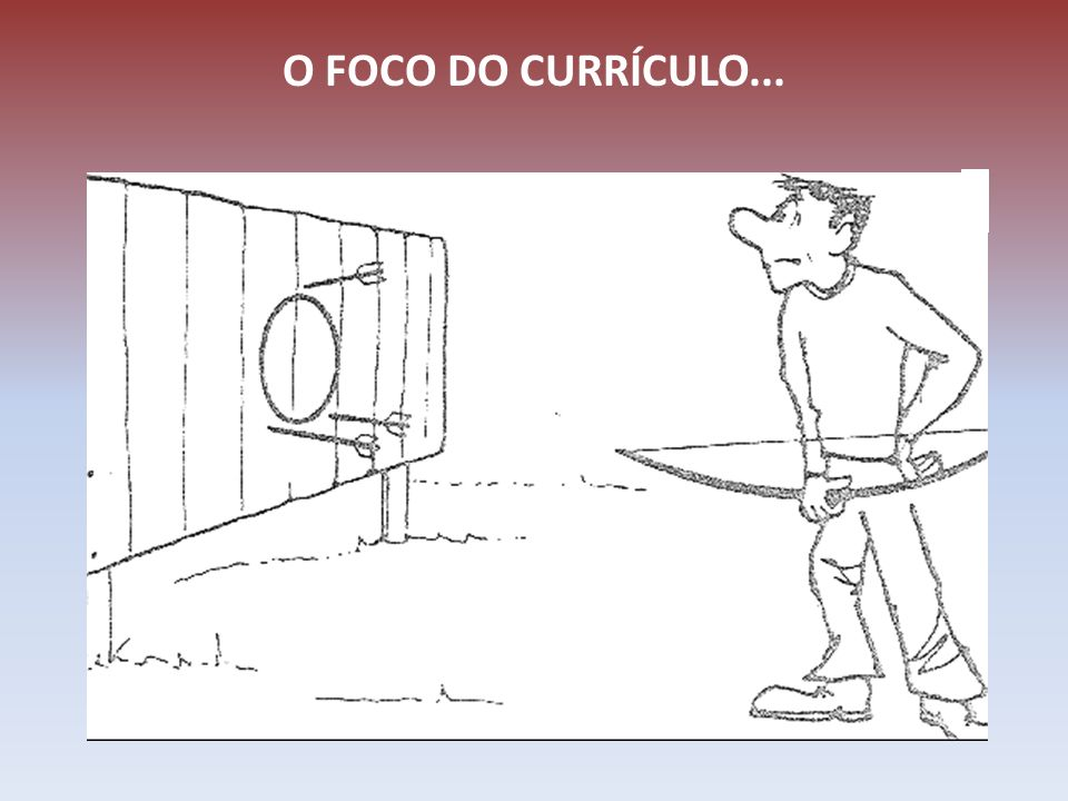 O FOCO DO CURRÍCULO...