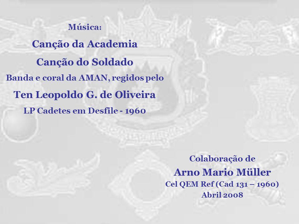 Banda e coral da AMAN, regidos pelo Ten Leopoldo G. de Oliveira