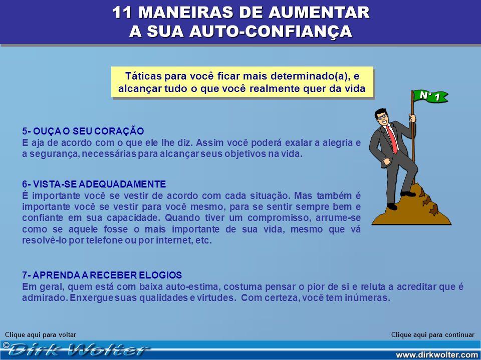 11 MANEIRAS DE AUMENTAR A SUA AUTO-CONFIANÇA