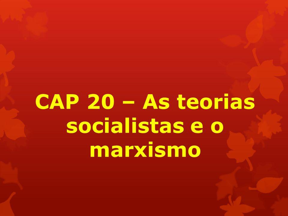 CAP 20 – As teorias socialistas e o marxismo