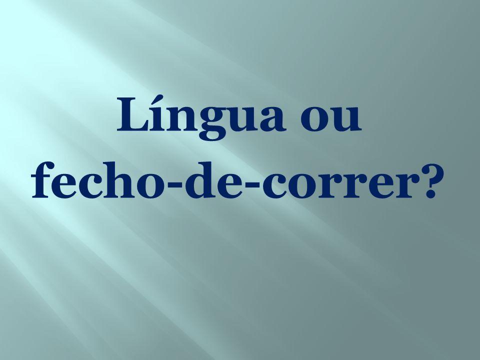 Língua ou fecho-de-correr