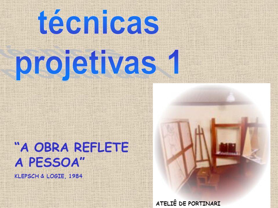 técnicas projetivas 1 A OBRA REFLETE A PESSOA KLEPSCH & LOGIE, 1984