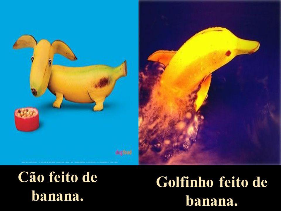 Golfinho feito de banana.