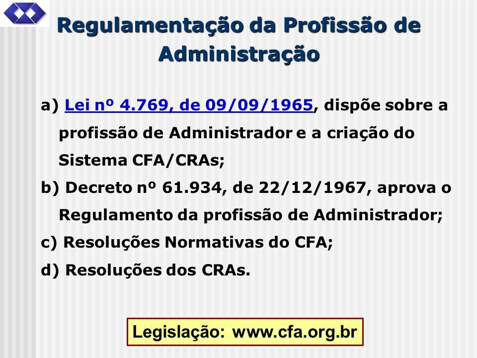 Regulamentação da Profissão de Administração