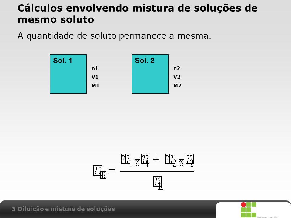 Cálculos envolvendo mistura de soluções de mesmo soluto