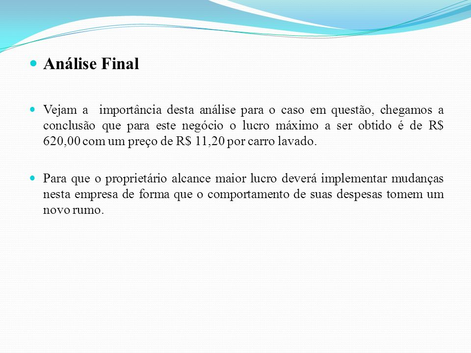 Análise Final