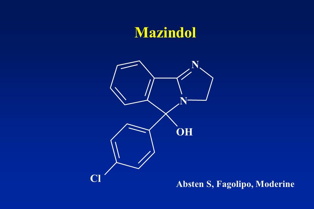 Mazindol N N OH Cl Absten S, Fagolipo, Moderine