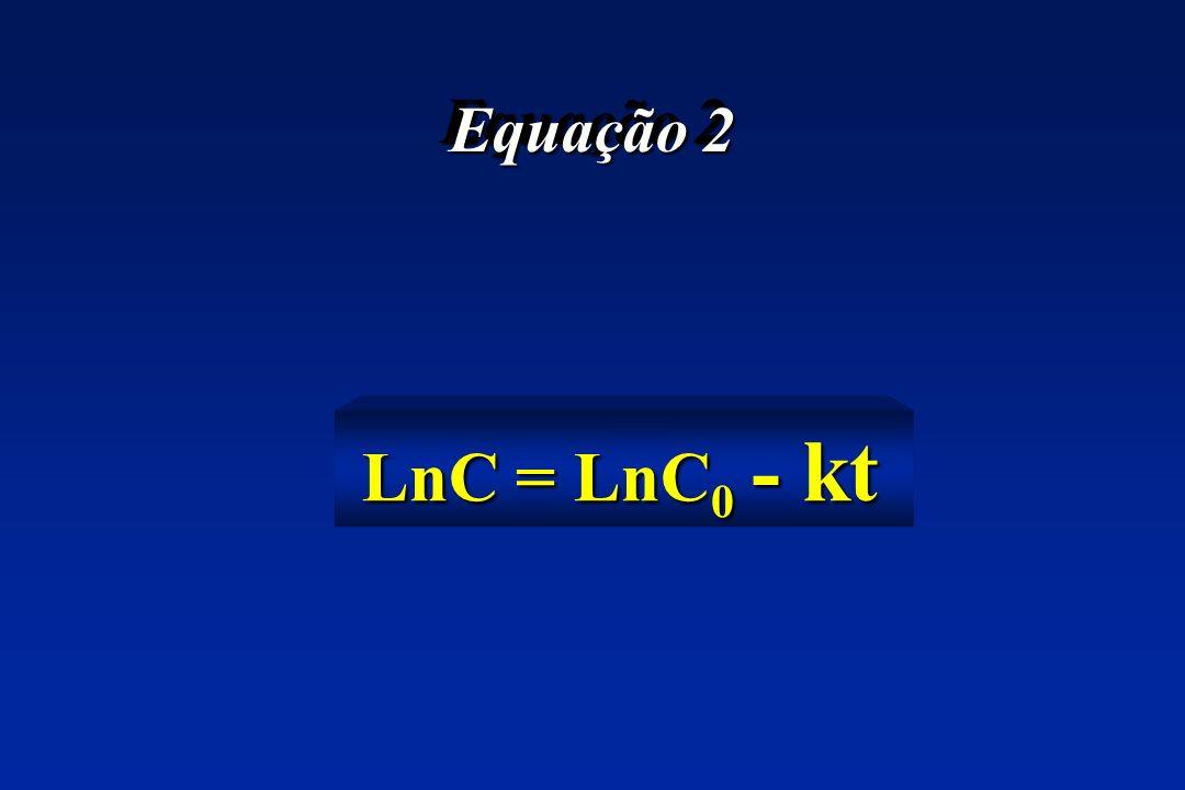 Equação 2 LnC = LnC0 - kt