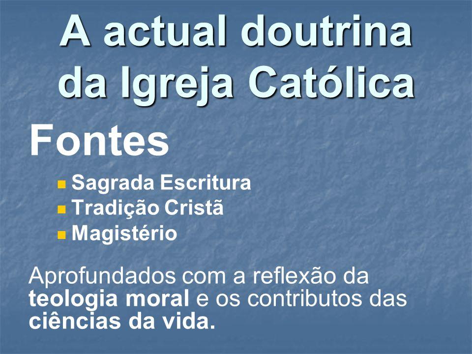 A actual doutrina da Igreja Católica