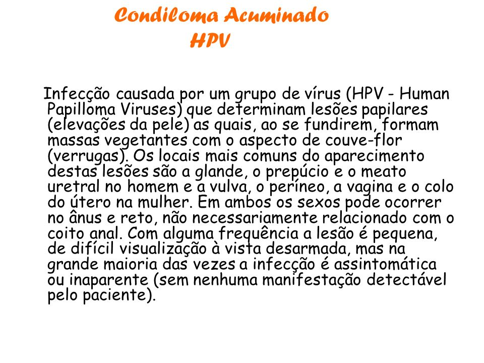 Condiloma Acuminado HPV