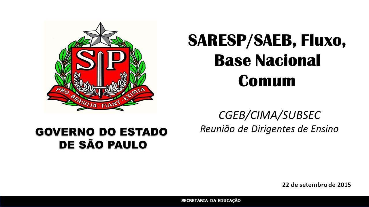 SARESP/SAEB, Fluxo, Base Nacional Comum