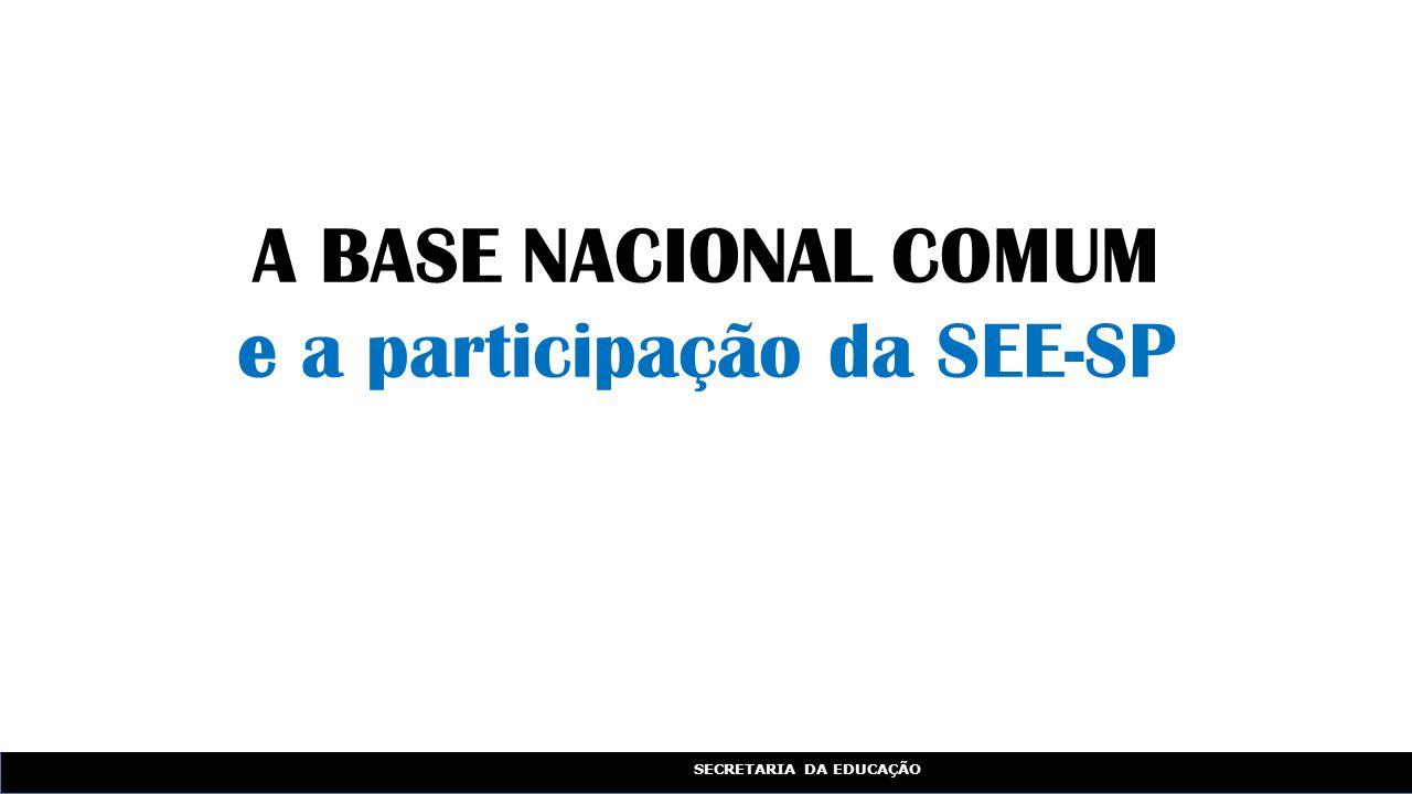A BASE NACIONAL COMUM e a participação da SEE-SP