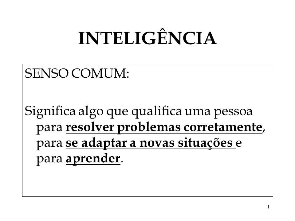 INTELIGÊNCIA SENSO COMUM: