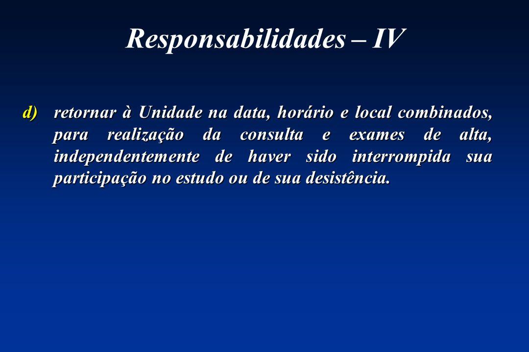 Responsabilidades – IV
