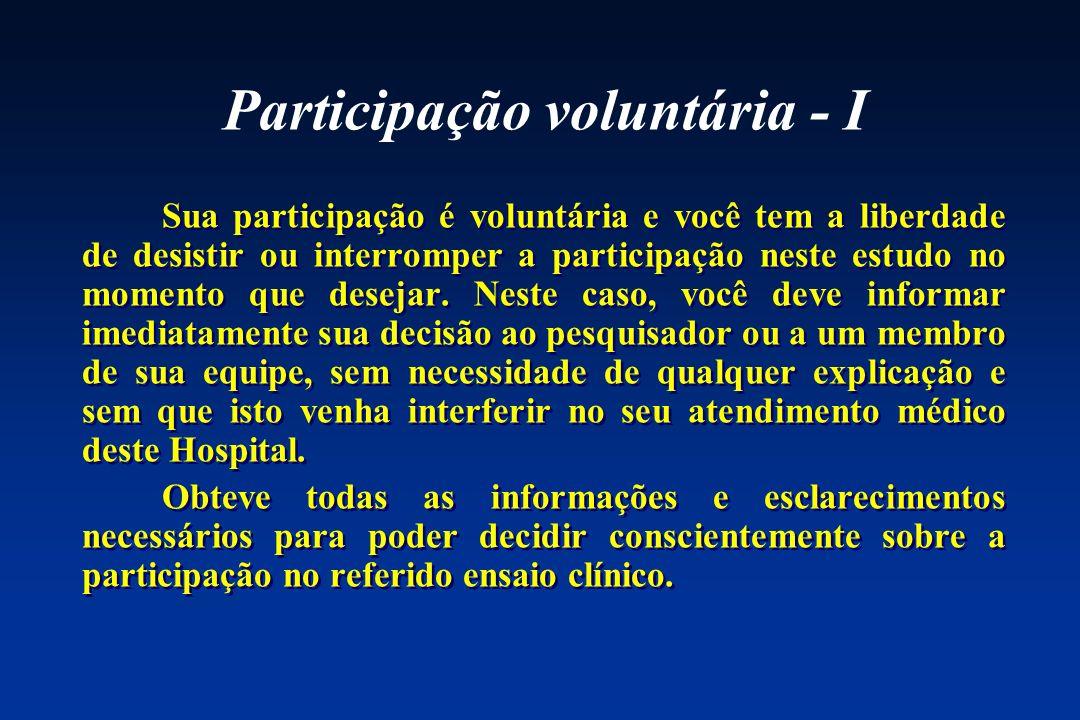 Participação voluntária - I