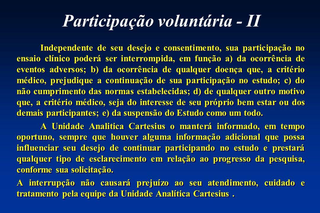 Participação voluntária - II