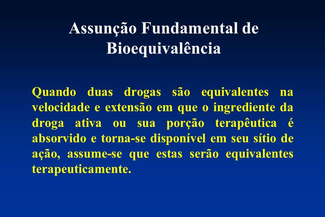 Assunção Fundamental de Bioequivalência
