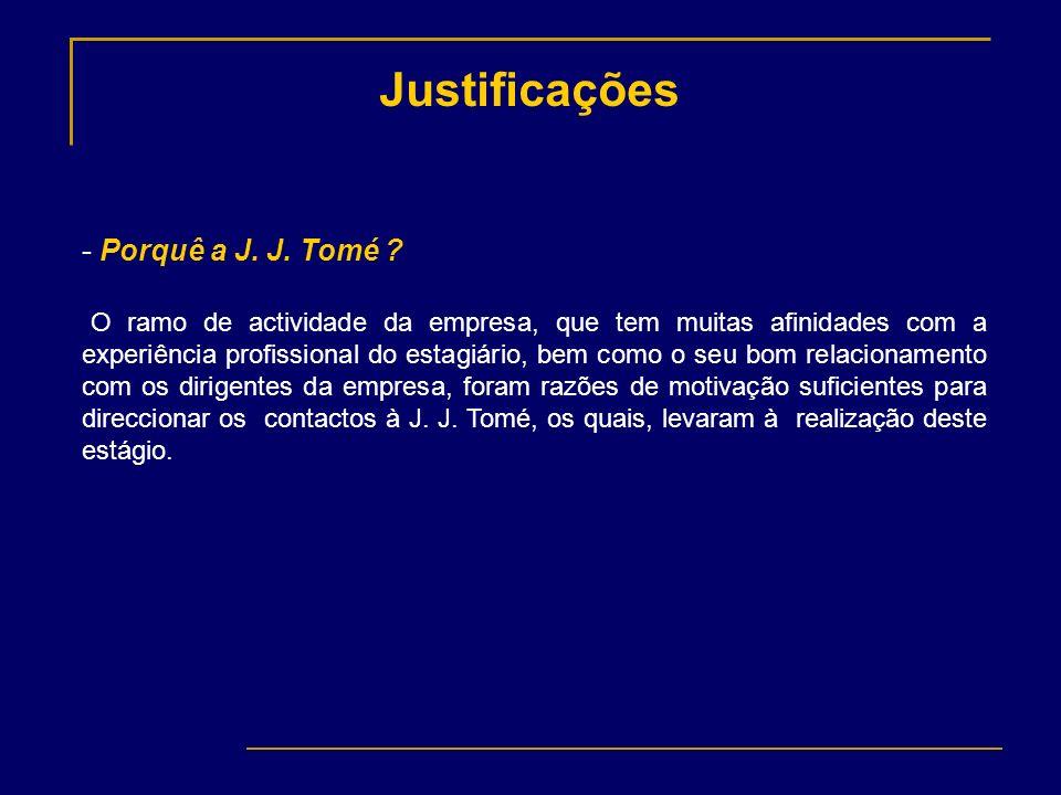 Justificações Porquê a J. J. Tomé