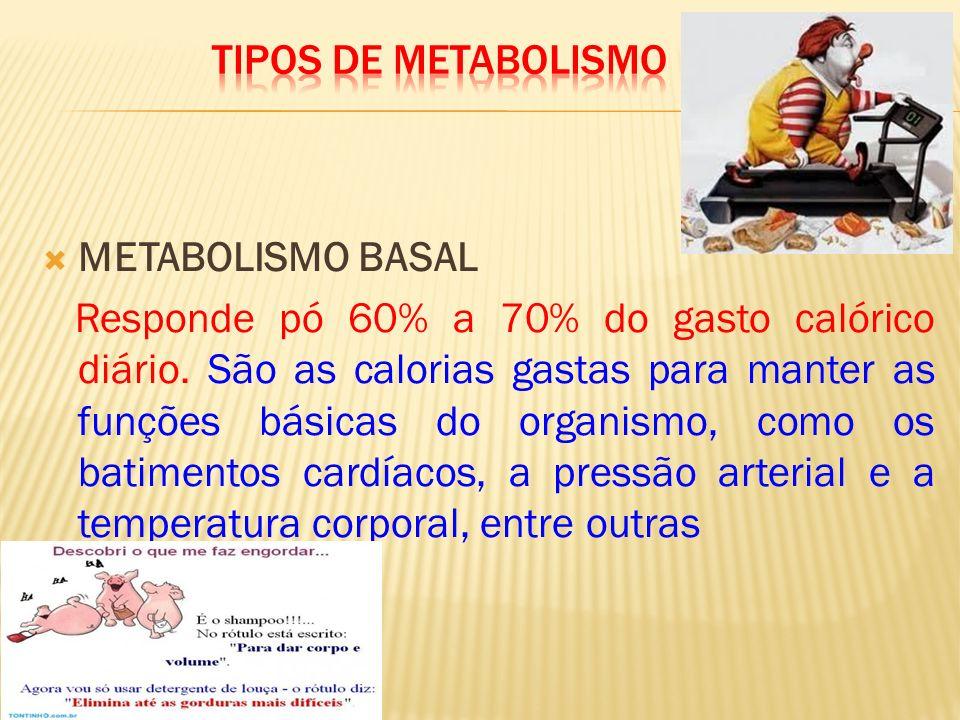 TIPOS DE METABOLISMO METABOLISMO BASAL.