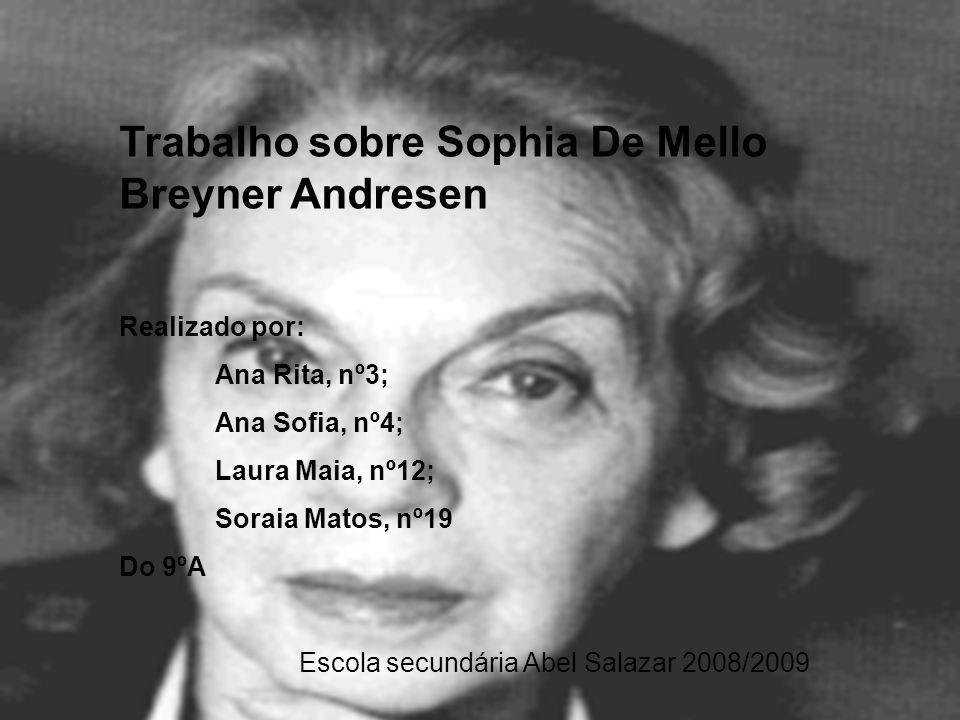 Trabalho sobre Sophia De Mello Breyner Andresen