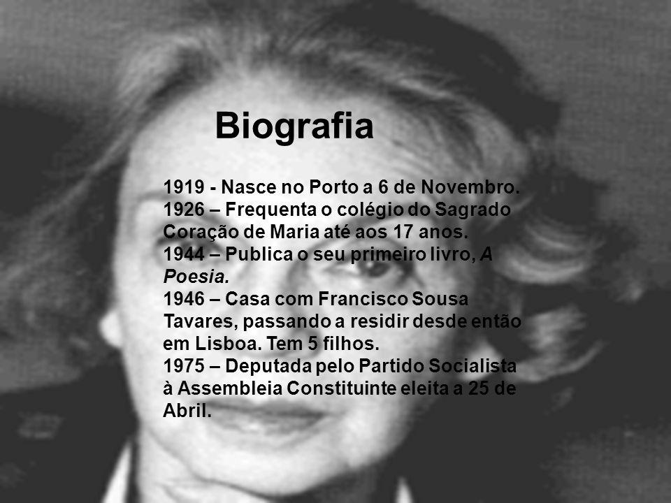 Biografia 1919 - Nasce no Porto a 6 de Novembro.