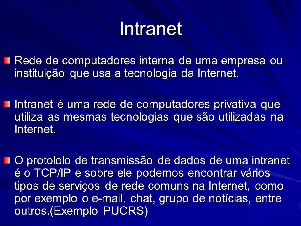 IntranetRede de computadores interna de uma empresa ou instituição que usa a tecnologia da Internet.