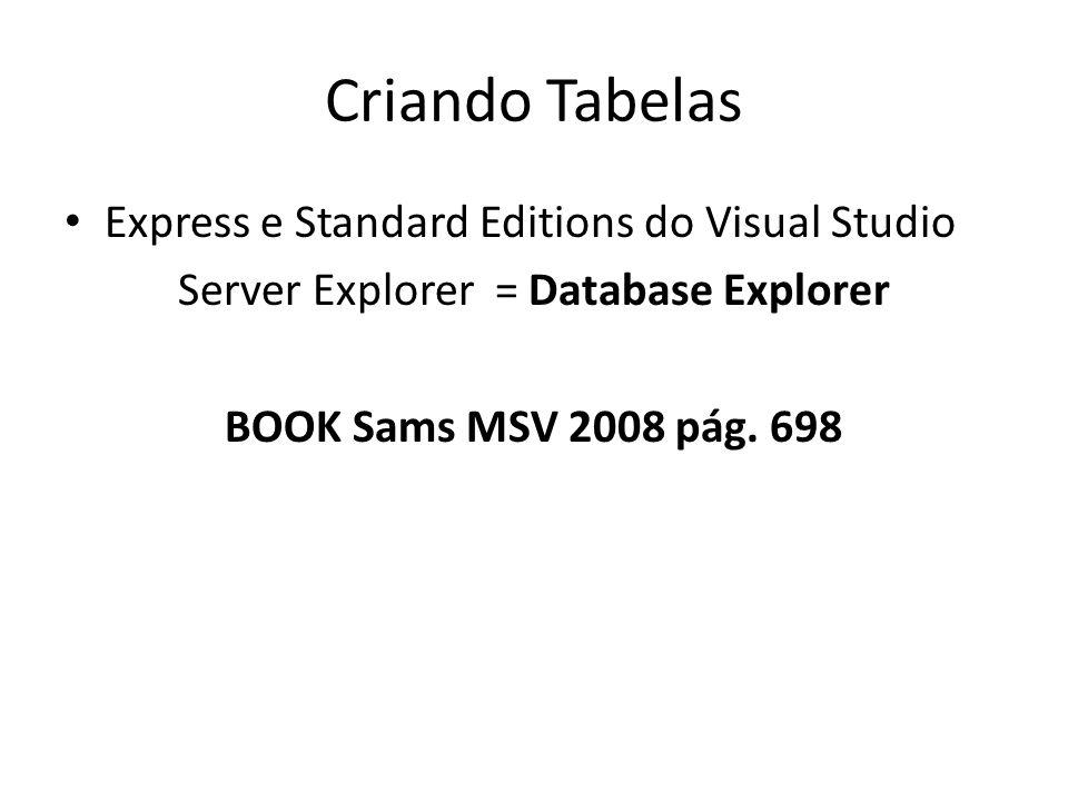 Server Explorer = Database Explorer