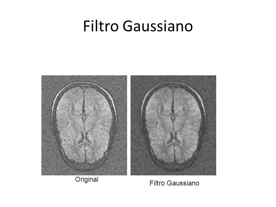 Filtro Gaussiano Original Filtro Gaussiano