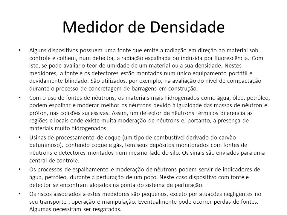 Medidor de Densidade