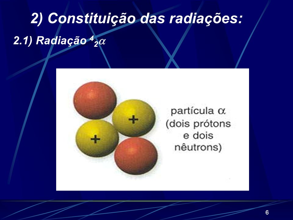 2) Constituição das radiações: