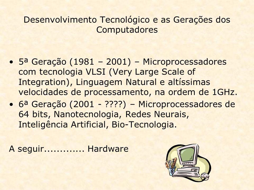 Desenvolvimento Tecnológico e as Gerações dos Computadores