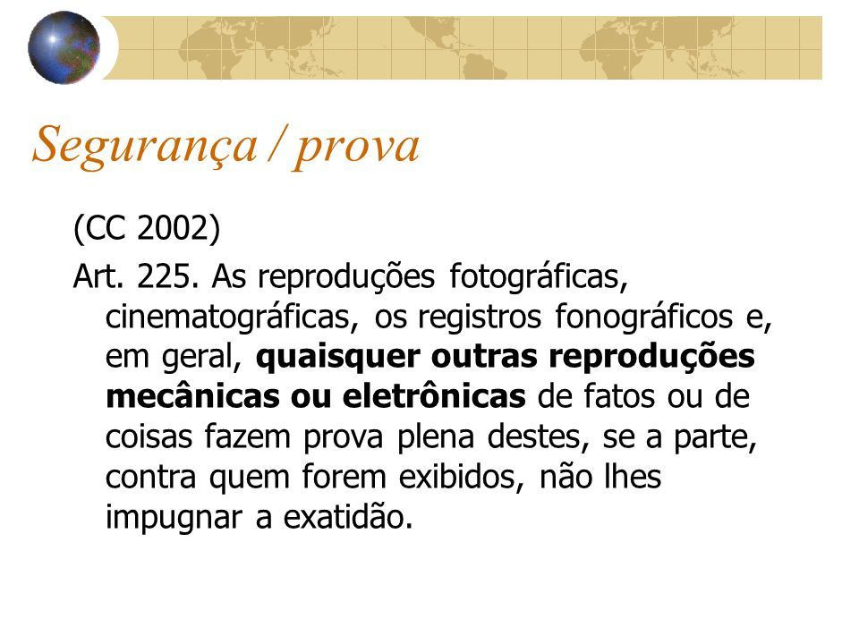 Segurança / prova(CC 2002)