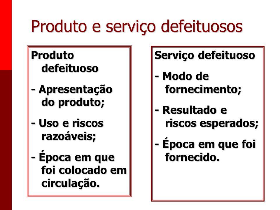Produto e serviço defeituosos