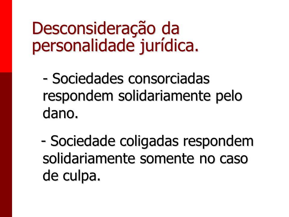 Desconsideração da personalidade jurídica.