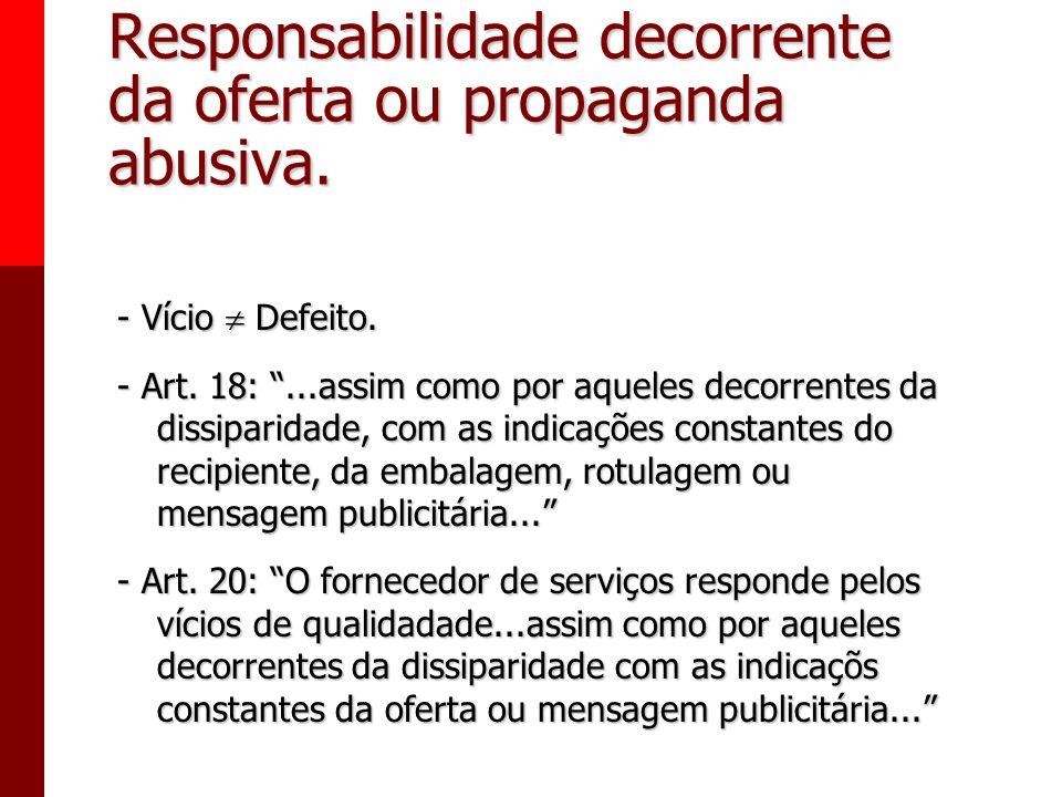 Responsabilidade decorrente da oferta ou propaganda abusiva.